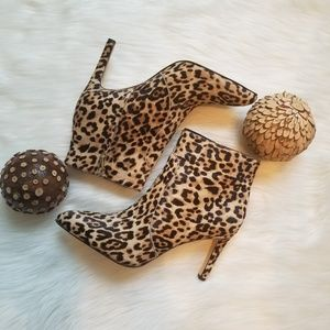 Sam Edelman Olette Leopard Booties Nib